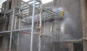 Industrial fire protection services. Engineering, design, and installation. Inspection, testing, and maintenance.