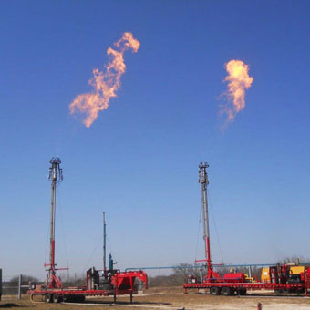 Equipment for pipeline blow downs and flare maintenance, including portable, self-guyed flare stacks, ignition systems, and BTU enclosed rental flares.