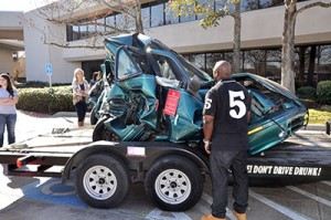 Krysta's Karing Angels displays cars involved in drunk driving incidents