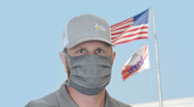 Man in FR facemask